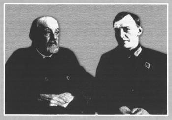 Циолковский и конструктор первой советской жидкостной ракеты ГИРД-09 М.К. Тихонравов